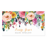 Painted Floral Hair Stylist Appointment Cards Pack Of Standard Business Cards