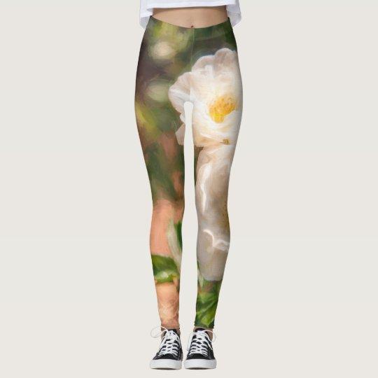 Painted Floral Leggings