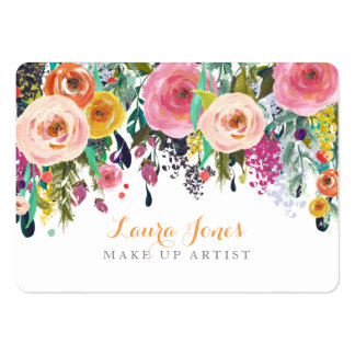 Painted Floral Make Up Artist Appointment Cards Pack Of Chubby Business Cards