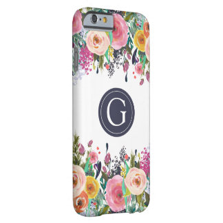Painted Floral Monogram Iphone 6 Case Barely There iPhone 6 Case