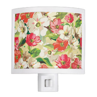Painted Floral Night Lights