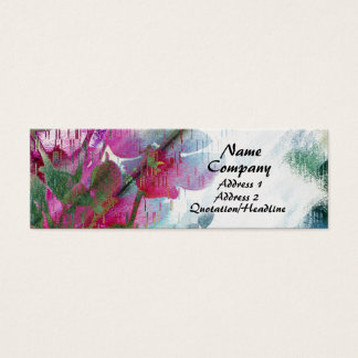 Painted Floral Small Business Cards