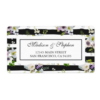 Painted Floral Striped Pattern -  Wedding