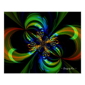 Painted Flow Fractal Poster
