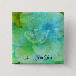 Painted Flower by Shirley Taylor 2 Inch Square Button