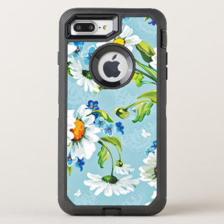 Painted Flower Design OtterBox Defender iPhone 7 Plus Case