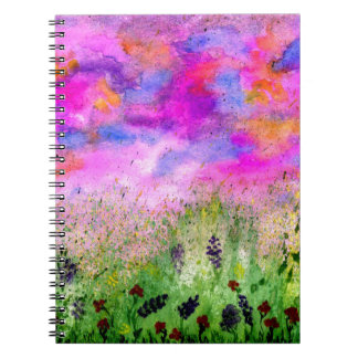Painted Flowers Feild4 Notebook