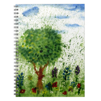 Painted Flowers Feild Notebooks
