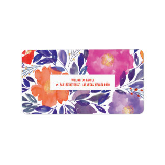 painted flowers label