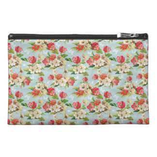 Painted Flowers Travel Accessory Bag