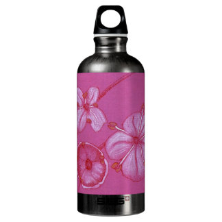 Painted Flowers Water Bottle