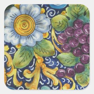 Painted Folk Art  Still life Square Sticker