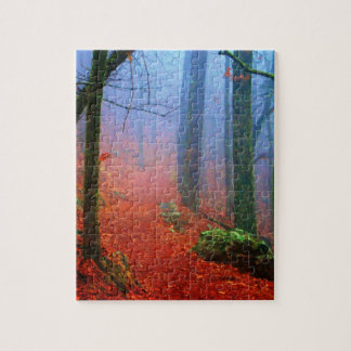 Painted Forest Autumn Blue Fog Puzzle