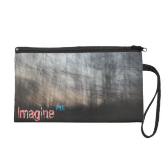 Painted forest wristlet purses