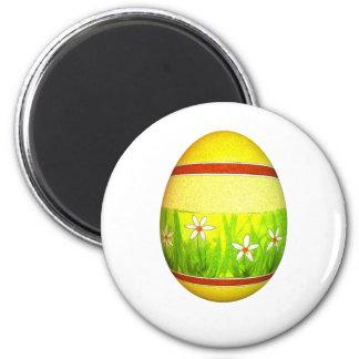 Painted Garden Easter Egg Magnet