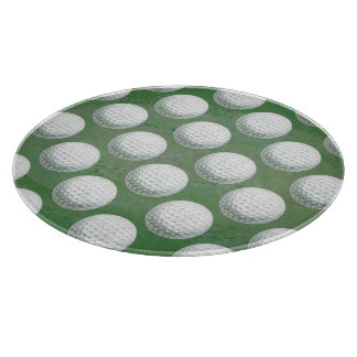 Painted Golf Ball Pattern Cutting Board