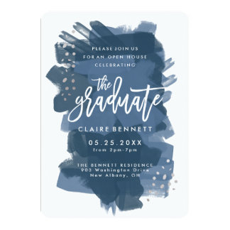 Painted Graduate Photo Graduation Invitation