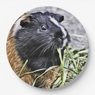 Painted Guinea Pig 3 Paper Plate
