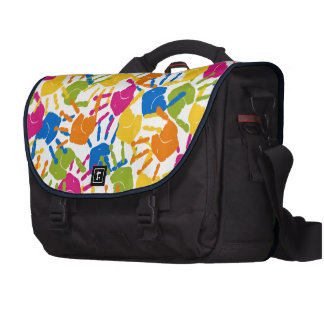 Painted Hand Prints Design Commuter Bags