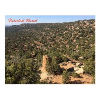 Painted Hand Pueblo Postcard