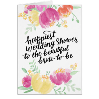 Painted Happiest Shower | Wedding Shower Card