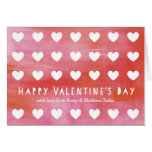 Painted Heart Cut-Out Valentines Day Greeting Card