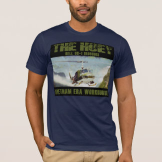 Painted Huey UH-1 Iroquois Vietnam Era Workhorse T-Shirt