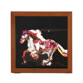 Painted Irish Gypsy Horse (2) Desk Organizer