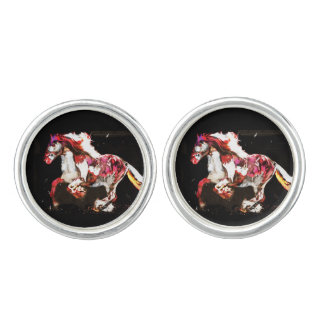 Painted Irish Gypsy Horse Cufflinks