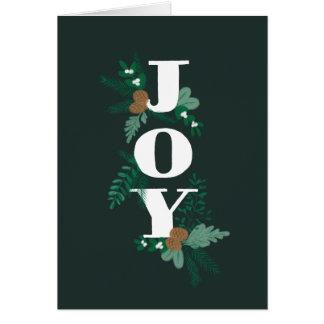 Painted Joy Multi Photo Christmas Card Letter