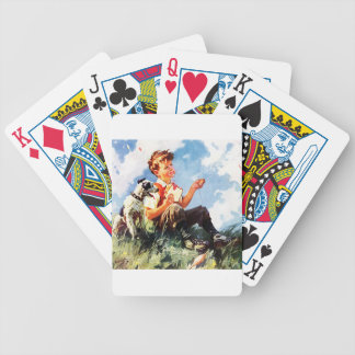 Painted Kid Bicycle Playing Cards