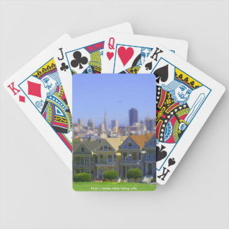 Painted Ladies in San Francisco (Tilt & Shift) Bicycle Playing Cards