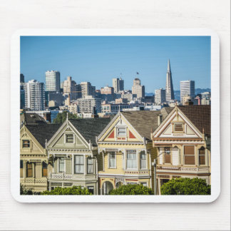 painted ladies san francisco mouse pad