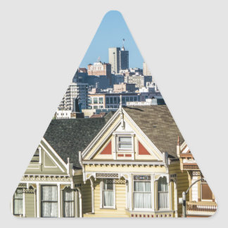 painted ladies san francisco triangle sticker