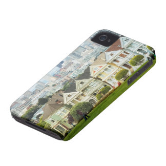 Painted Ladies Victorian houses and skyline iPhone 4 Covers