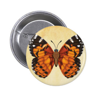 Painted Lady Butterfly 2 Inch Round Button