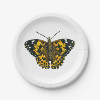 Painted lady butterfly 7 inch paper plate