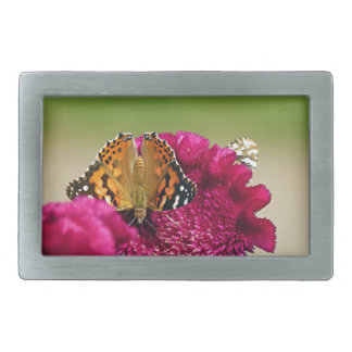 Painted Lady Butterfly Belt Buckle
