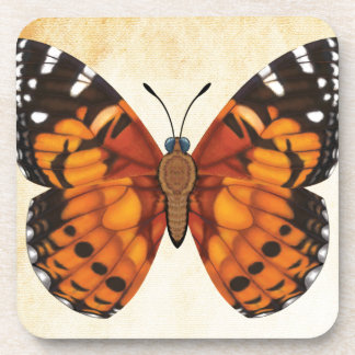 Painted Lady Butterfly Beverage Coasters