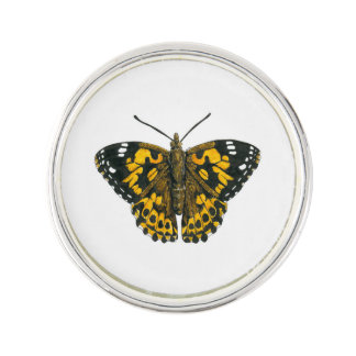 Painted lady butterfly lapel pin