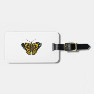 Painted lady butterfly luggage tag