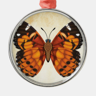 Painted Lady Butterfly Metal Ornament