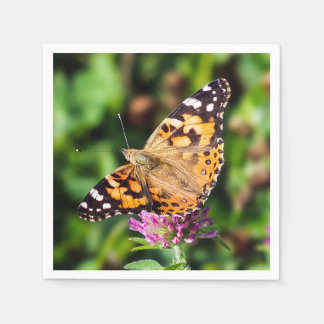 Painted Lady Butterfly Paper Napkin