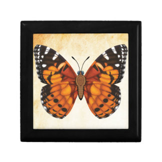 Painted Lady Butterfly Trinket Boxes
