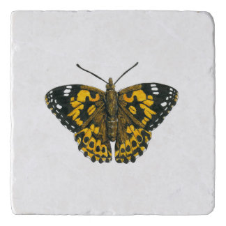 Painted lady butterfly trivet