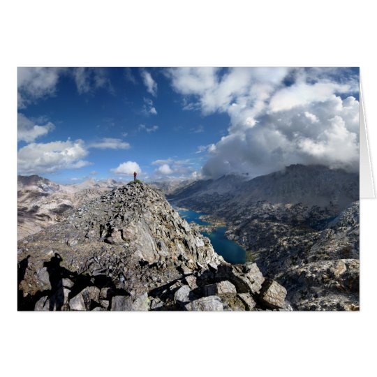 Painted Lady Over Rae Lakes - John Muir Trail Card