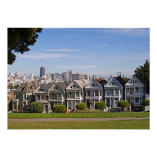 Painted Lady's of San Francisco Poster