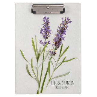 Painted Lavender Sprig Clipboard
