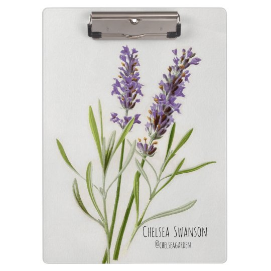 Painted Lavender Sprig Clipboards