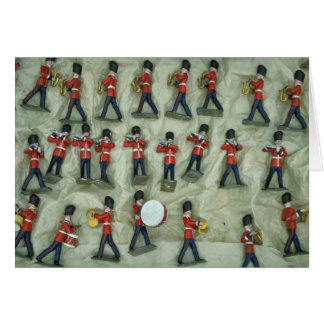Painted lead soldiers card